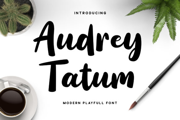 Print on Demand: Audrey Tatum Script & Handwritten Font By Grezline Studio
