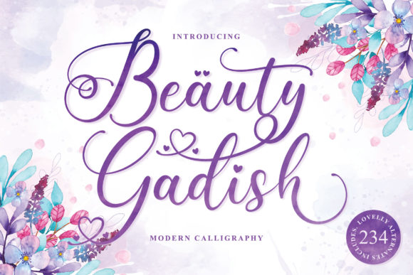 Print on Demand: Beauty Gadish Script & Handwritten Font By Almeera Studio