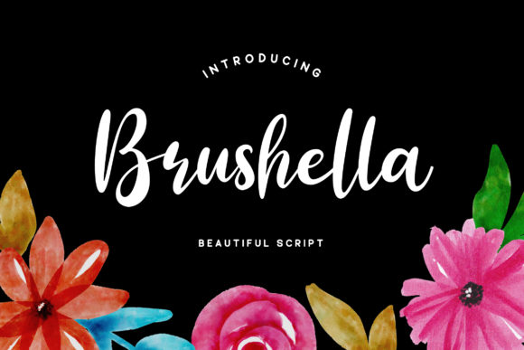 Print on Demand: Brushella Script & Handwritten Font By Grezline Studio