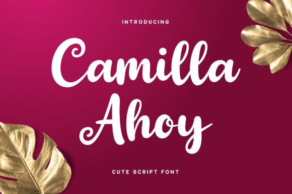 Print on Demand: Camilla Ahoy Script & Handwritten Font By RezaDesign
