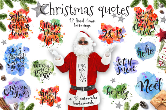 Download Free Christmas Quotes Hand Deawing Lettering Graphic By Evgeniiasart for Cricut Explore, Silhouette and other cutting machines.
