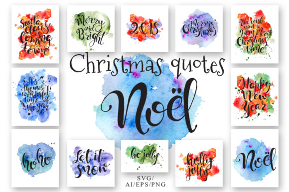 Christmas Quotes Hand Deawing Lettering Graphic Crafts By EvgeniiasArt