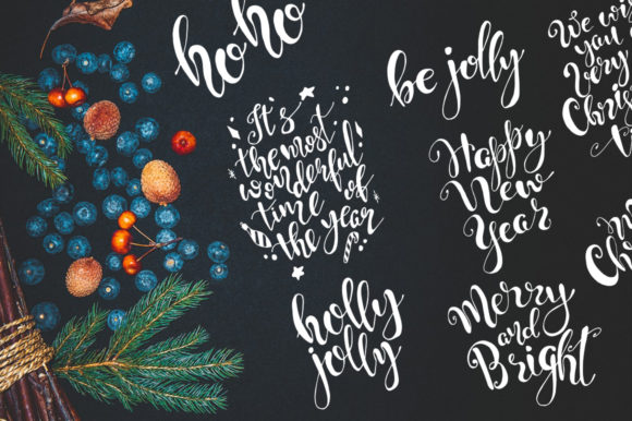 Christmas Quotes Hand Deawing Lettering Graphic Crafts By EvgeniiasArt - Image 9