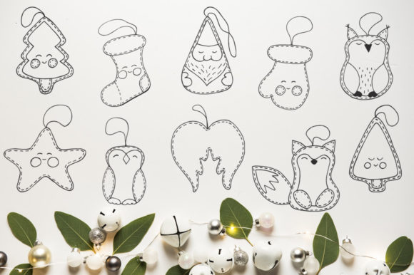 Christmas Toys Hand Drawn Decorative Set Graphic By EvgeniiasArt Image 2