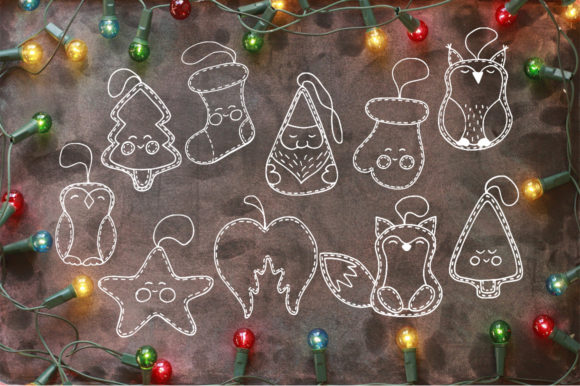 Christmas Toys Hand Drawn Decorative Set Graphic By EvgeniiasArt Image 3