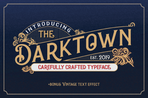 Print on Demand: Darktown Display Font By Typestory