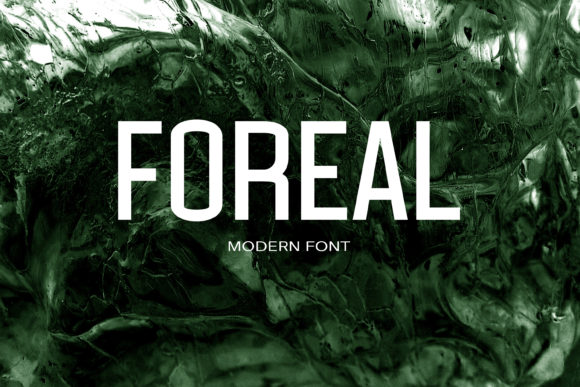 Print on Demand: Foreal Sans Serif Font By maxim.90.ivanov