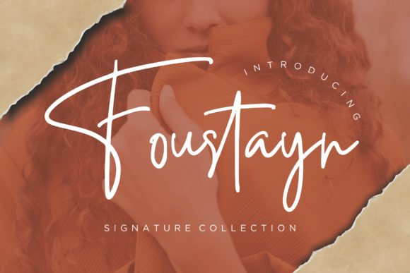 Print on Demand: Foustayn Script & Handwritten Font By CreatypeStudio