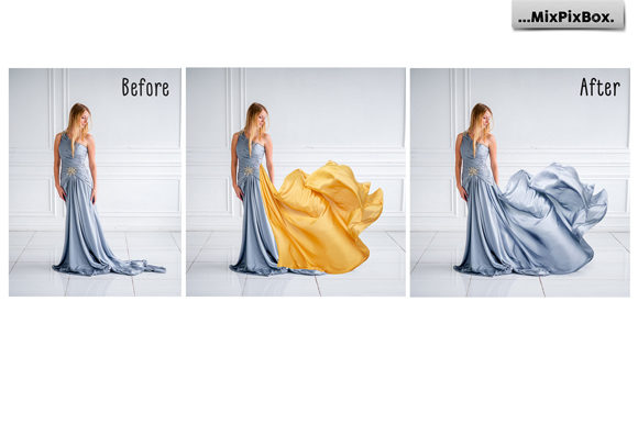 Print on Demand: Gold Satin Photo Overlays Graphic Layer Styles By MixPixBox - Image 2