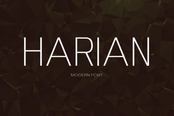 Print on Demand: Harian Sans Serif Font By maxim.90.ivanov - Image 1