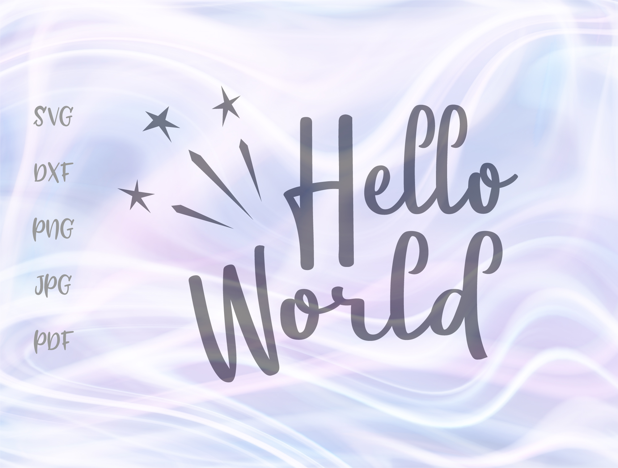 Download Free Hello World Graphic By Digitals By Hanna Creative Fabrica for Cricut Explore, Silhouette and other cutting machines.