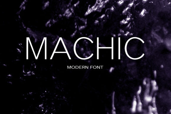 Print on Demand: Machic Sans Serif Font By maxim.90.ivanov