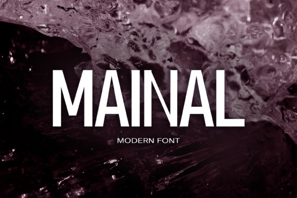 Print on Demand: Mainal Sans Serif Font By maxim.90.ivanov
