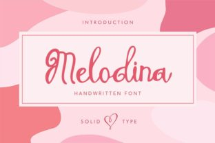 Melodina Script Font By Solidtype