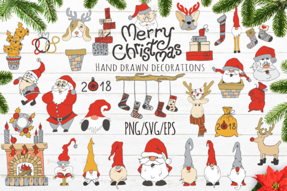 Merry Christmas Hand Drawn Decorations Graphic Illustrations By EvgeniiasArt - Image 2