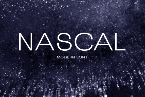 Print on Demand: Nascal Sans Serif Font By maxim.90.ivanov