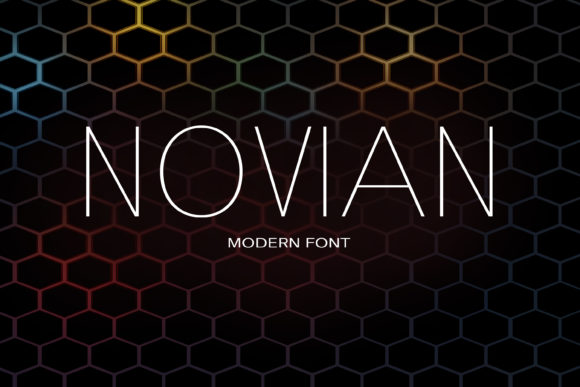 Print on Demand: Novian Sans Serif Font By maxim.90.ivanov