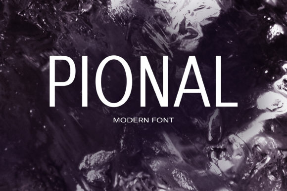 Print on Demand: Pional Sans Serif Font By maxim.90.ivanov