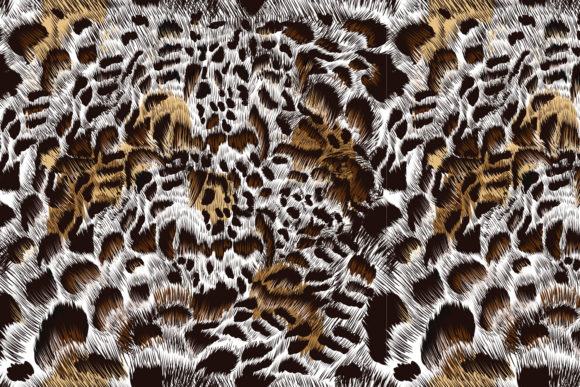 Download Free Seamless Vector Leopard Pattern Design Grafico Por for Cricut Explore, Silhouette and other cutting machines.