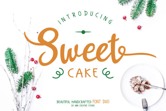 Print on Demand: Sweet Cake Script & Handwritten Font By VNM Creative Studio