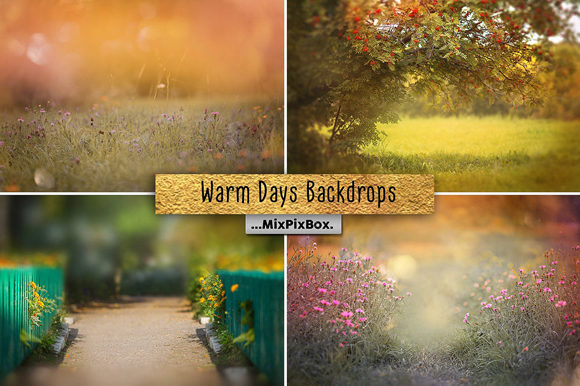 Print on Demand: Warm Days Backdrop Graphic Layer Styles By MixPixBox