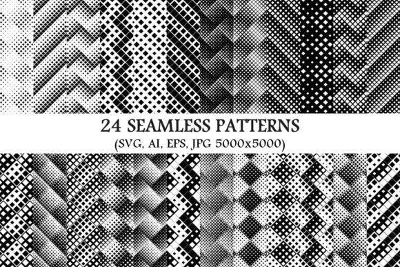 Download Free 24 Seamless Square Patterns Graphic By Davidzydd Creative Fabrica for Cricut Explore, Silhouette and other cutting machines.