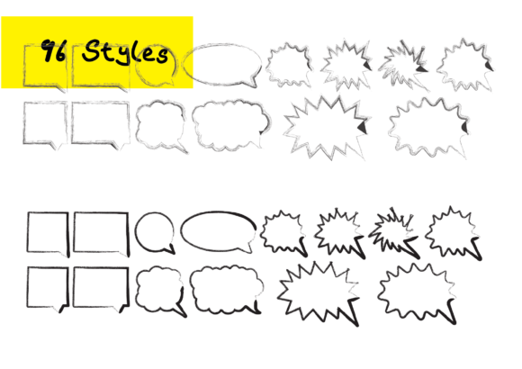 Print on Demand: 1344 Speech Marks Bubbles Graphic Crafts By GraphicsBam Fonts - Image 2