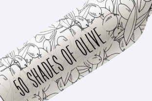 50 Shades of Olive Hand Drawn Graphic By nantia