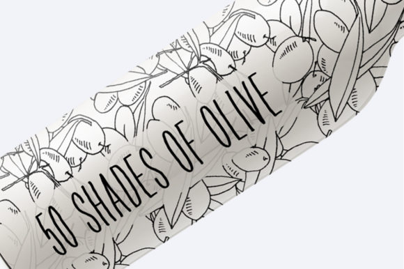Print on Demand: 50 Shades of Olive Hand Drawn Graphic Patterns By nantia