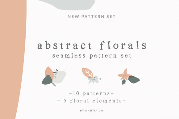 Print on Demand: Abstract Floral Seamless Pattern Graphic Patterns By nantia
