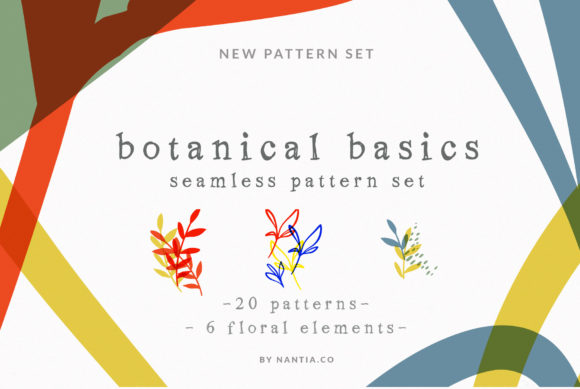 Print on Demand: Botanical Basics Pattern Set Graphic Patterns By nantia