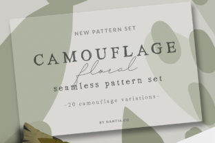 Camouflage Floral Pattern Set Graphic By nantia