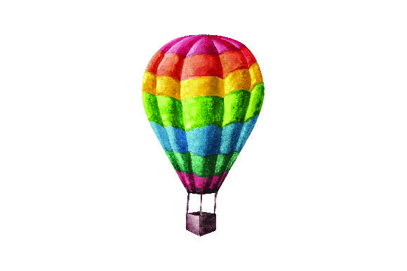 Colorful Hot Air Balloon Watercolor Style Svg Cut File By