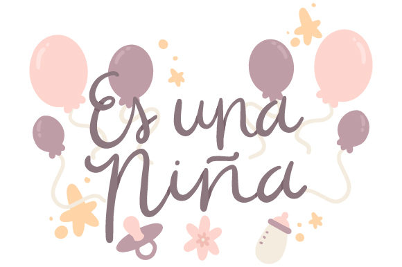 Download Free Es Una Nina Svg Cut File By Creative Fabrica Crafts Creative for Cricut Explore, Silhouette and other cutting machines.