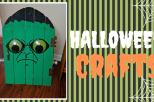 Halloween decoration – Craft a Frankenstein door