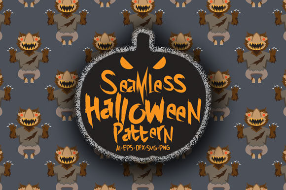 Download Free Halloween Seamless Patterns 93 Graphic By Bayu Baluwarta for Cricut Explore, Silhouette and other cutting machines.