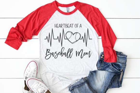 Download Free Heartbeat Of A Baseball Mom Graphic By Morgan Day Designs for Cricut Explore, Silhouette and other cutting machines.