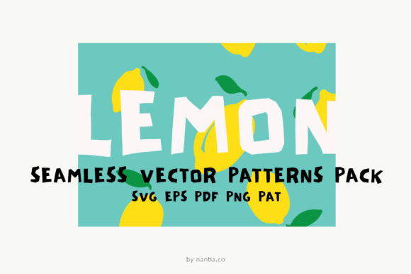 Download Free Lemon Seamless Vector Patterns Pack Graphic By Nantia Creative for Cricut Explore, Silhouette and other cutting machines.