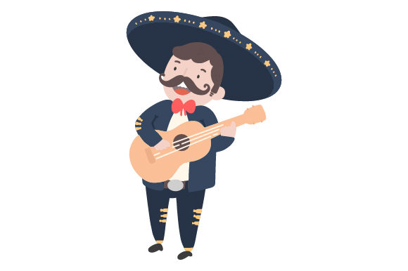 Download Free Mariachi With Guitar Svg Cut File By Creative Fabrica Crafts Creative Fabrica for Cricut Explore, Silhouette and other cutting machines.