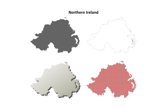 Download Free Northern Ireland Outline Map Set Graphic By Davidzydd Creative for Cricut Explore, Silhouette and other cutting machines.