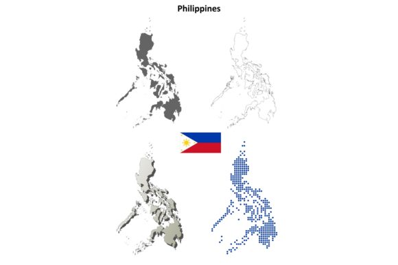 Download Free Philippines Outline Map Set Graphic By Davidzydd Creative Fabrica for Cricut Explore, Silhouette and other cutting machines.