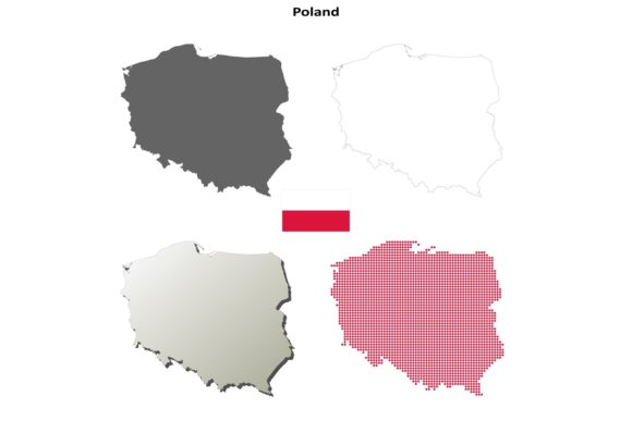 Download Free Poland Outline Map Set Graphic By Davidzydd Creative Fabrica for Cricut Explore, Silhouette and other cutting machines.