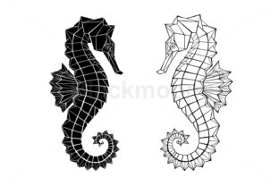 Polygonal Seahorse Graphic Illustrations By Blackmoon9