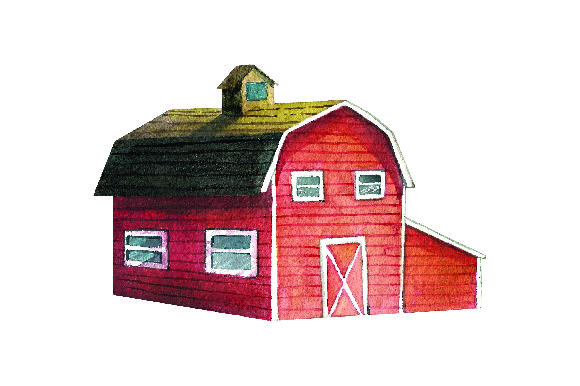 Red Barn - Watercolor Style Craft Design By Creative Fabrica Crafts Image 1