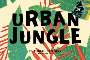 Seamless Patterns 20 X Urban Jungle V5 Graphic By nantia
