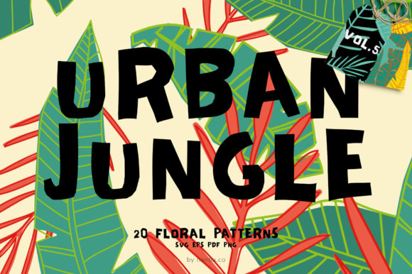 Download Free Seamless Patterns 20 X Urban Jungle V5 Graphic By Nantia for Cricut Explore, Silhouette and other cutting machines.