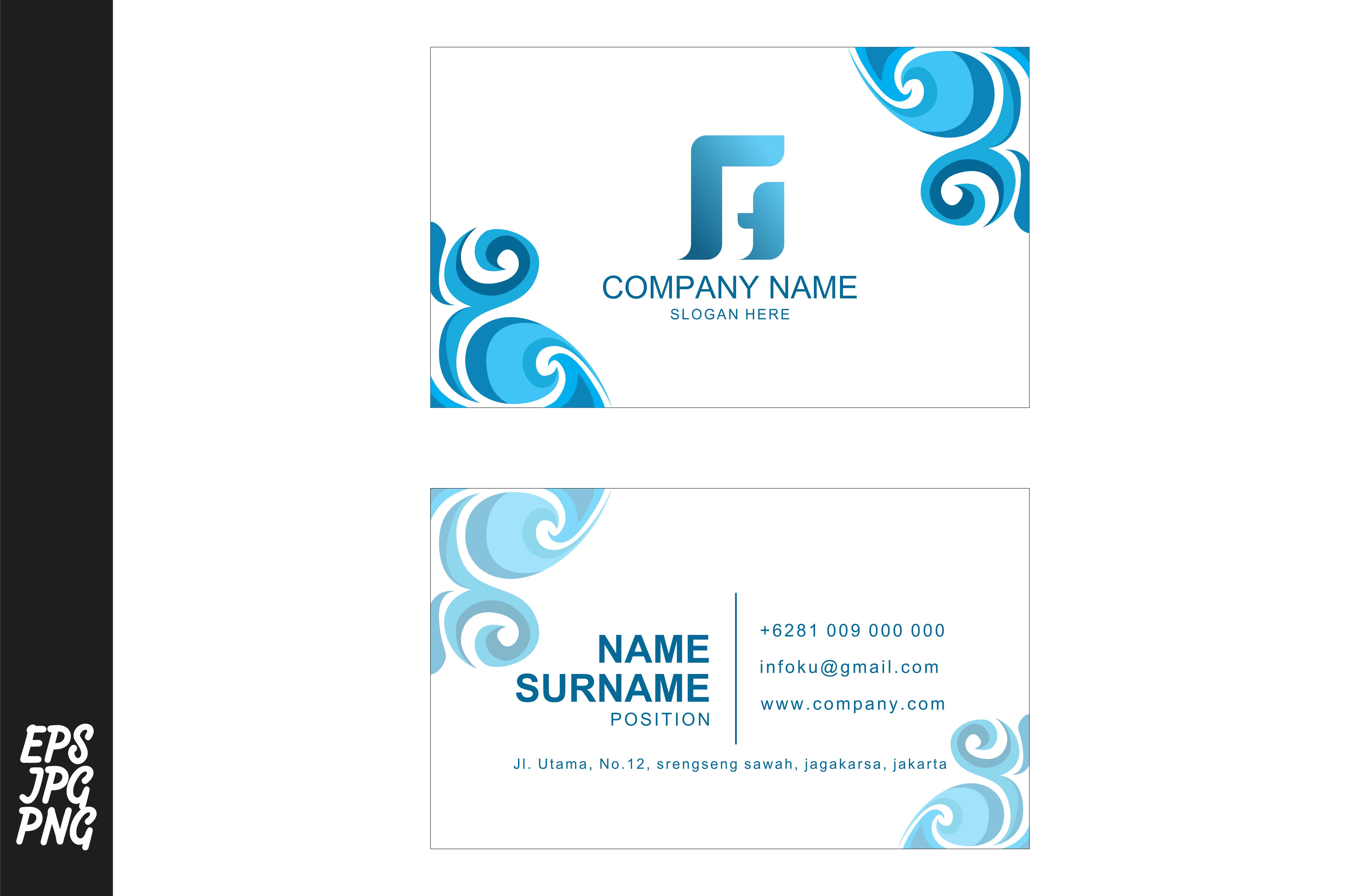 Download Free Simple Namecard Template Graphic By Arief Sapta Adjie Creative for Cricut Explore, Silhouette and other cutting machines.