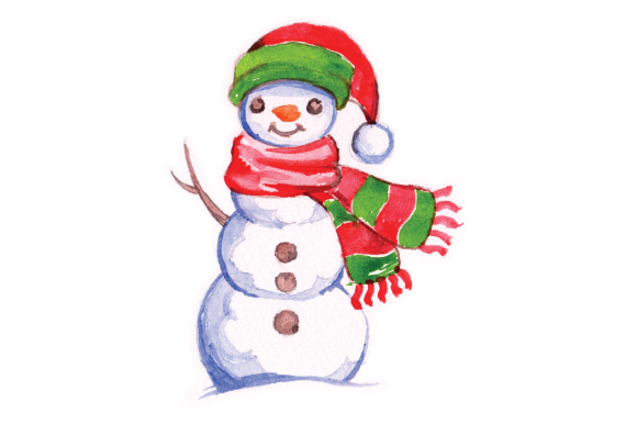 Download Free Snowman In Watercolor Style Svg Cut File By Creative Fabrica for Cricut Explore, Silhouette and other cutting machines.