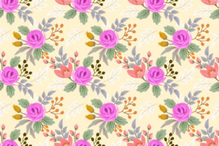 Download Free Sweet Color Of Flowers Pattern Graphic By Ranger262 Creative for Cricut Explore, Silhouette and other cutting machines.