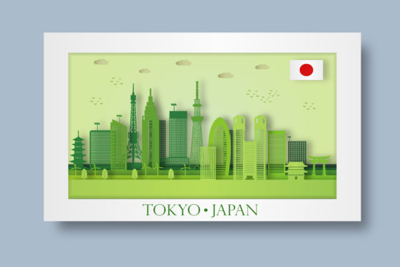 Download Free Jakarta Skyline Paper Art Vector Graphic By Adamcarl 9010 for Cricut Explore, Silhouette and other cutting machines.